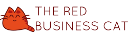 The Red Business Cat Logo