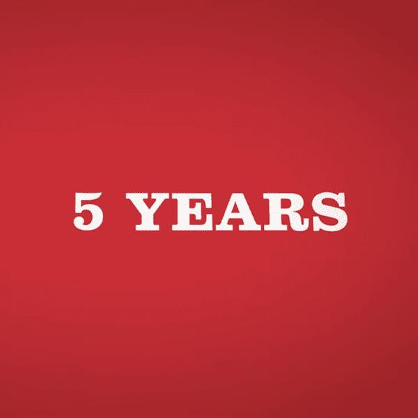 vijf jaar
